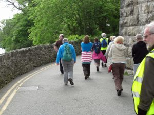 Walking under the Menai Bridge