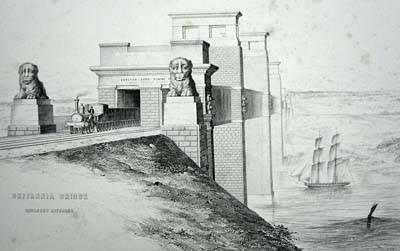 Y bont ar ôl ei orffen yn 1850