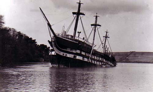 HMS Conway sinking
