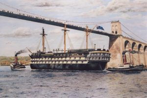 Painting of the HMS Conway, by Alastair Laing